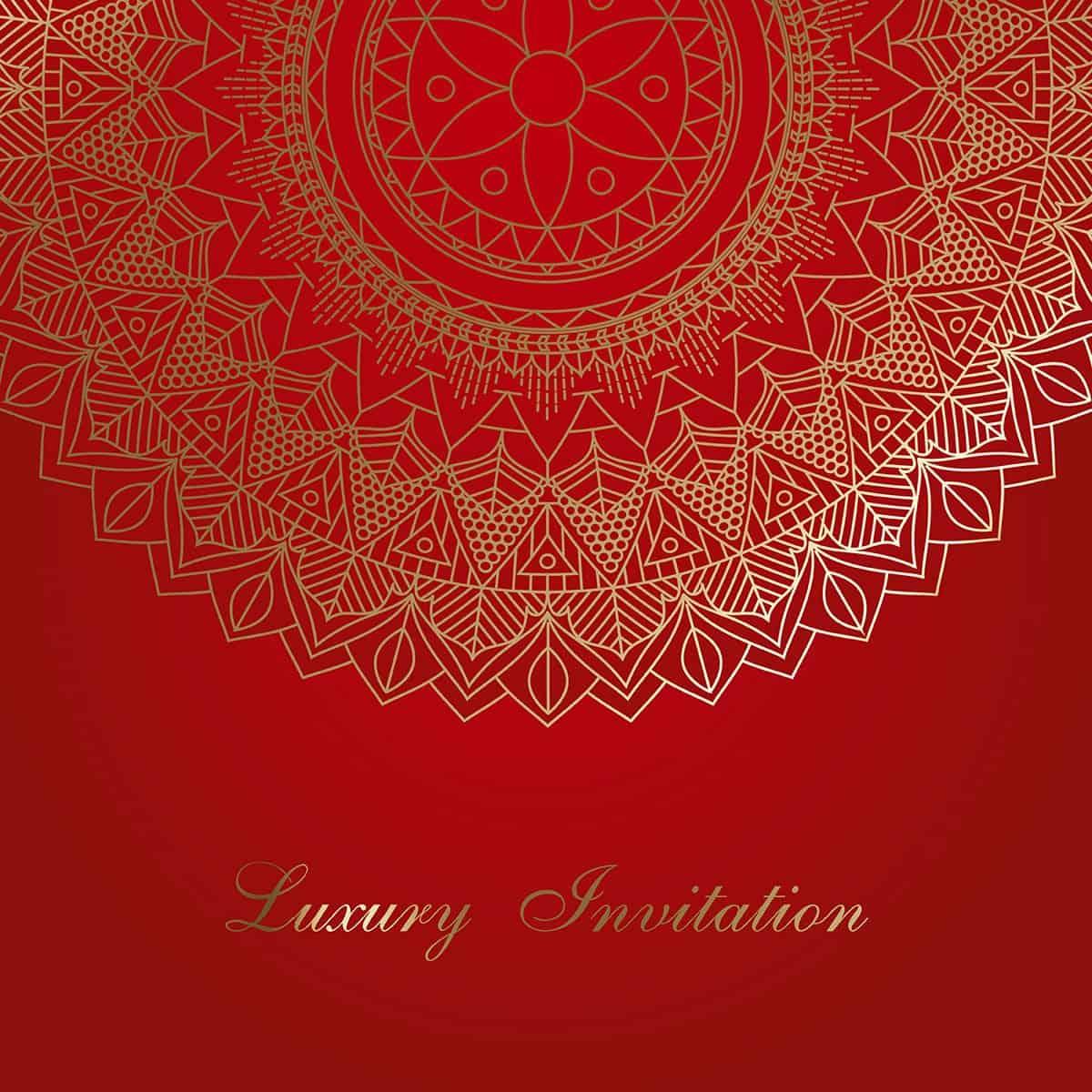 Mandala invitation background