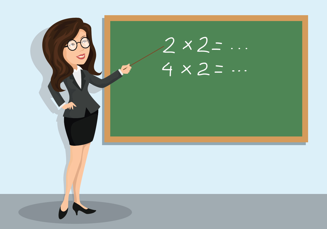 Math Teacher Illustration