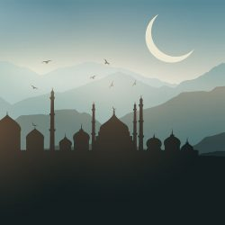 Ramadan landscape background