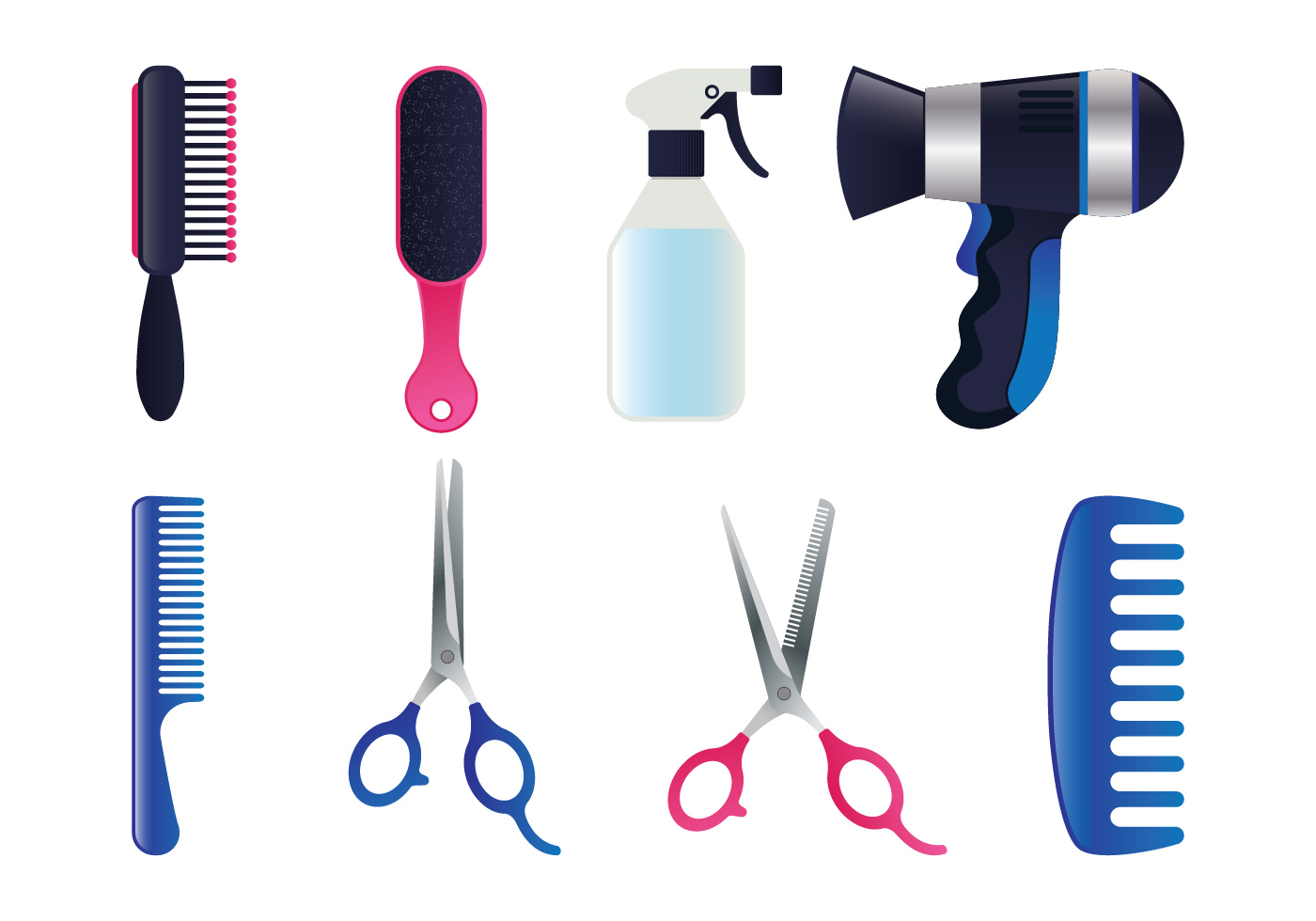 Realistic Salon Tools Set