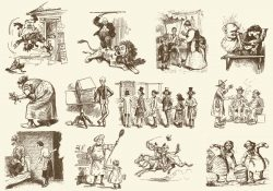 Sepia Vintage Cartoons