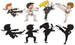 Set of karate kids