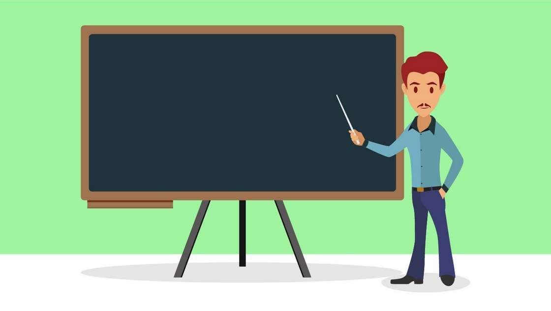 Teacher flat illustration