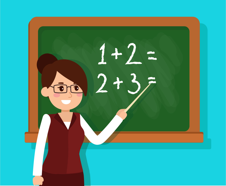 Teacher Teaching Math In a Classroom