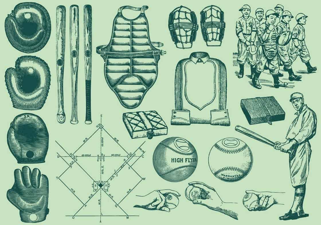 Vintage Baseball Elements