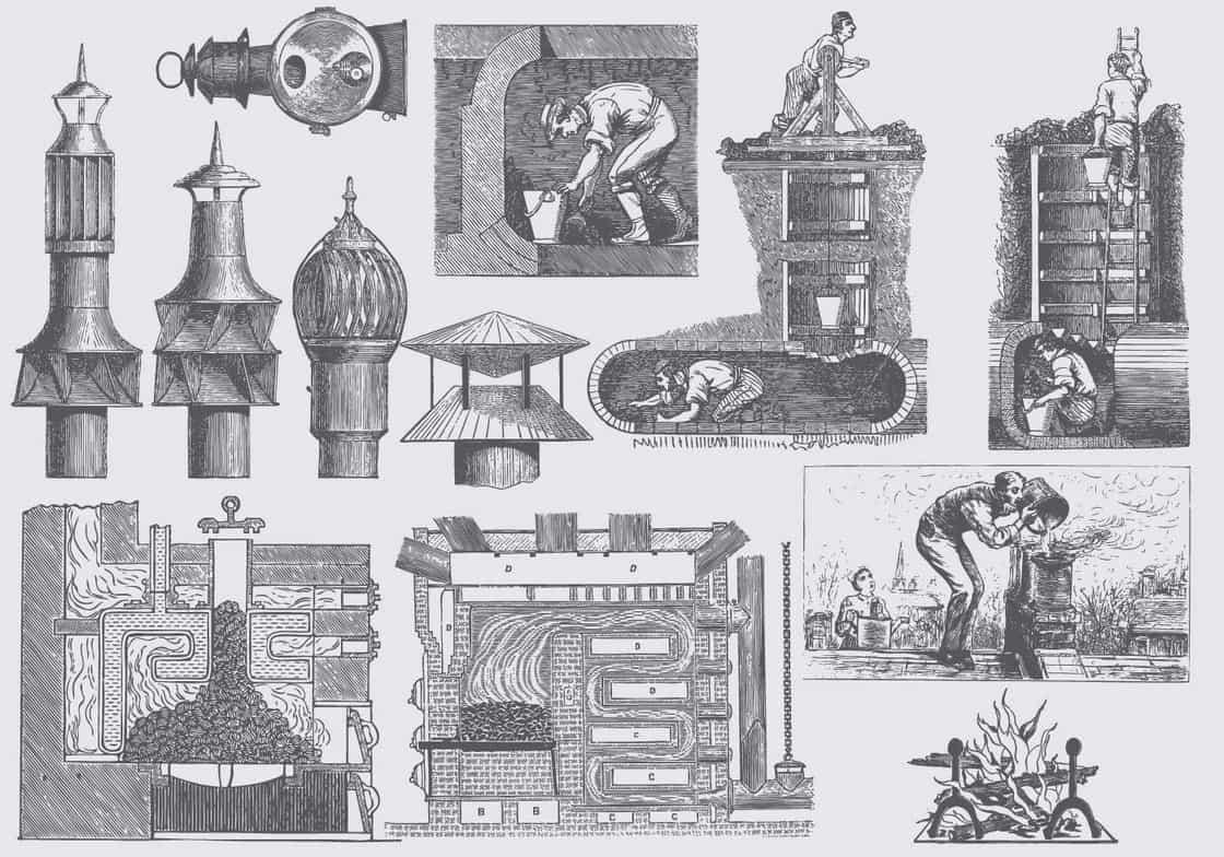 Vintage Chimney Illustrations