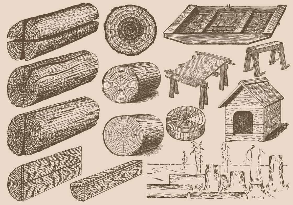 Vintage Wood Logs