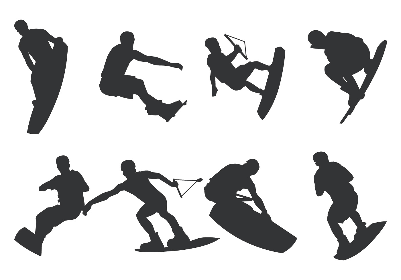 Wakeboarding Silhouette