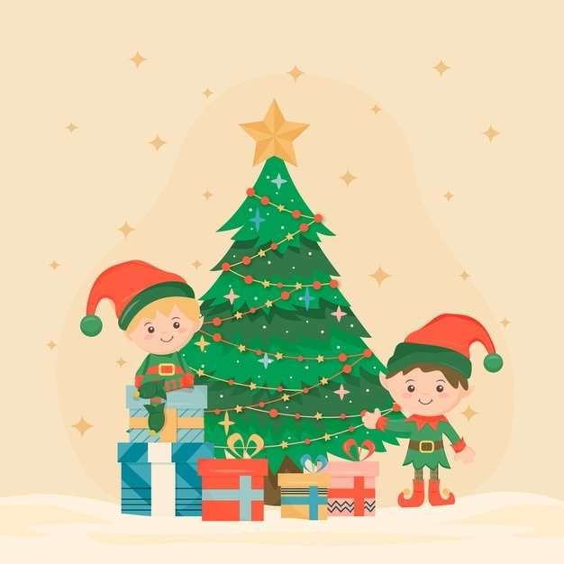 Vintage christmas tree tradition