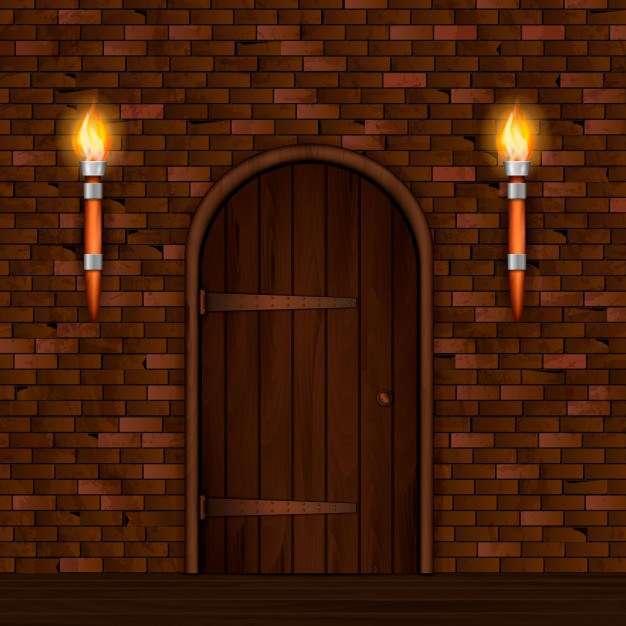 Vintage entrance door composition