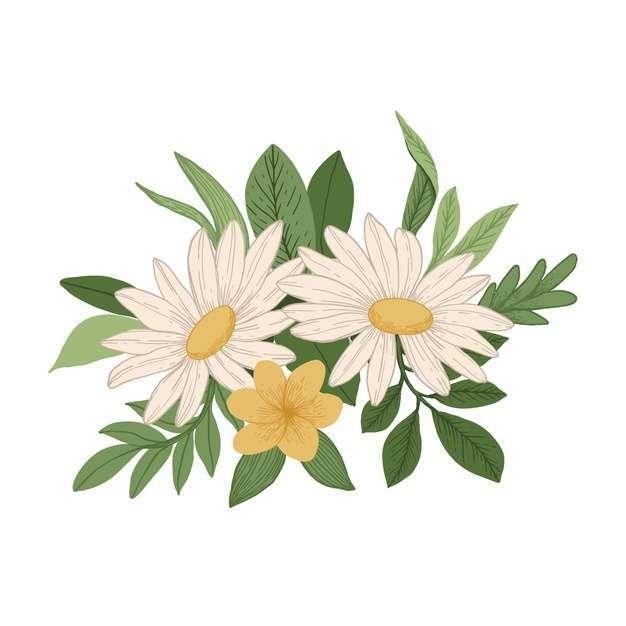 Vintage floral bouquet concept