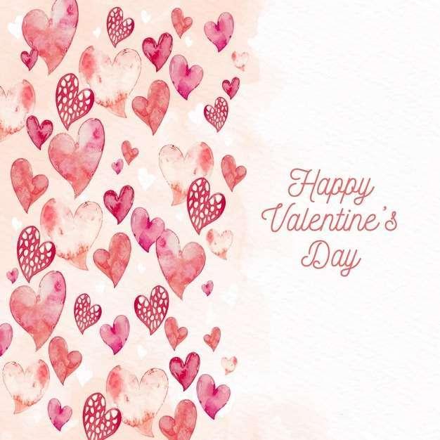 Watercolor valentine's day wallpaper