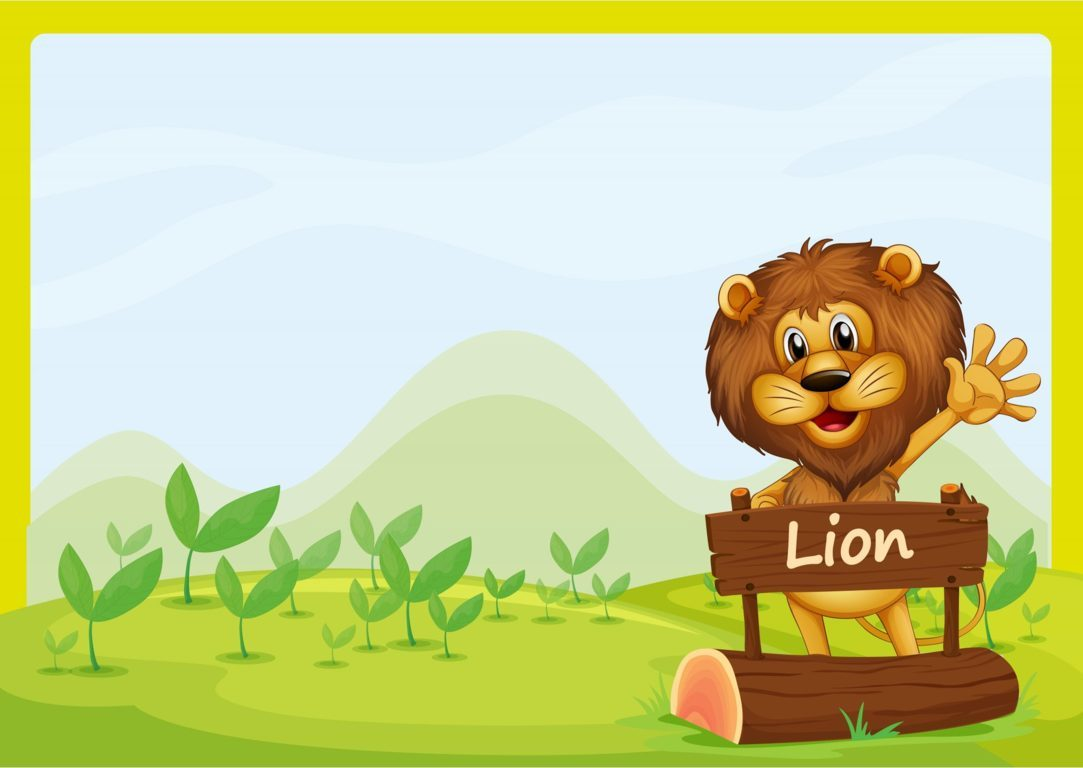 A lion and the signboard