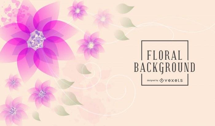 Artistic Floral Background Set