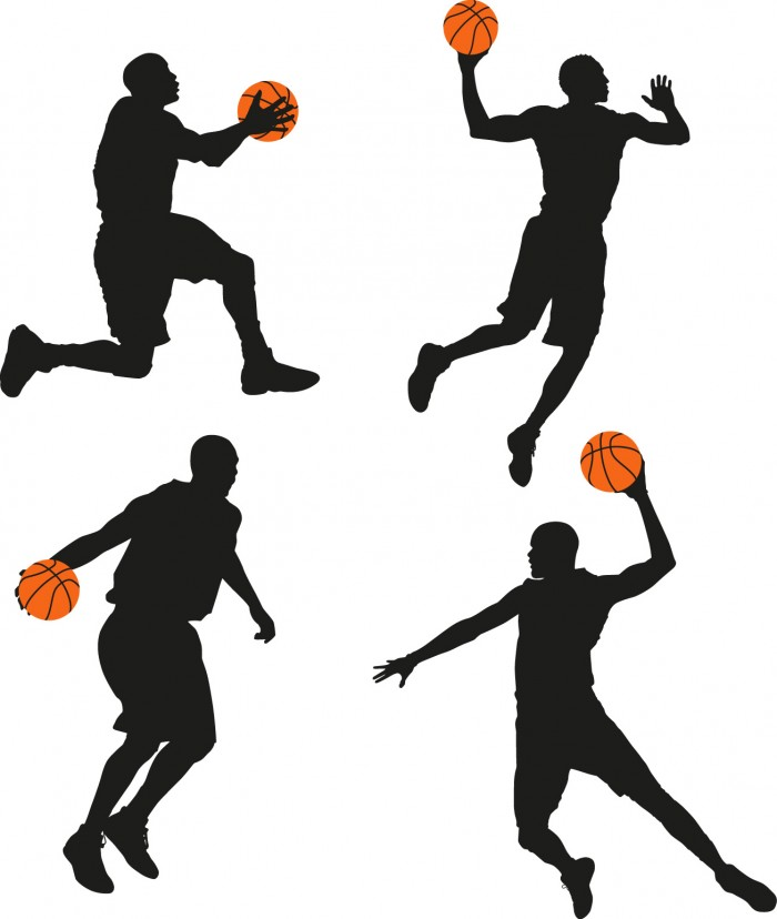 Basketball man silhouette Vector