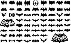 Batman logo silhouettes Vector