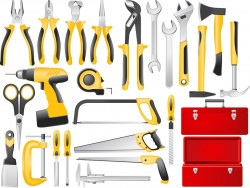 Building Tools Set 01 Vector