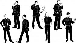Businessman in black suit silhouette