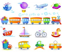 Children Toys 2 Vector