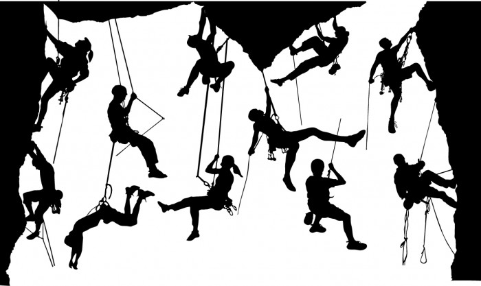 Climber silhouettes Vector