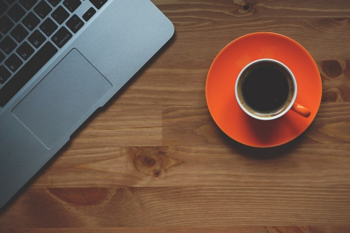 Cup Of Coffee Laptop Office