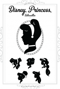 Disney Princess Silhouettes v.1 – Designs By Miss Mandee