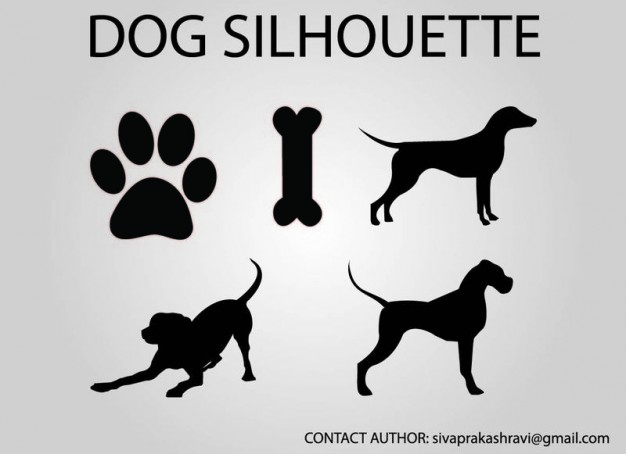 dog vector silhouette  Vector   Free Download