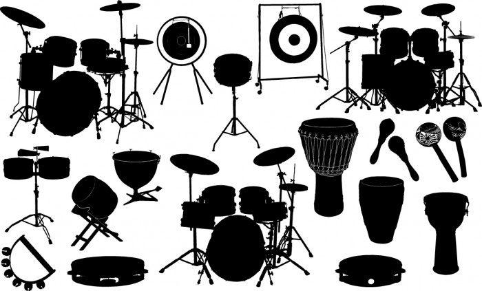Drum silhouette Vector