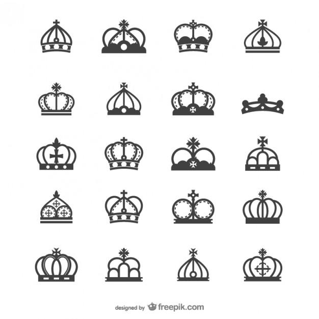 european crown silhouette   vector  Vector | Free Download