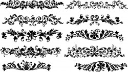 Floral horizontal decoration Vector
