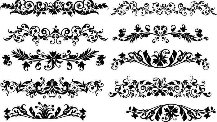 Floral horizontal decoration Vector