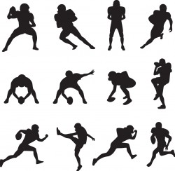 Football player silhouette Vector