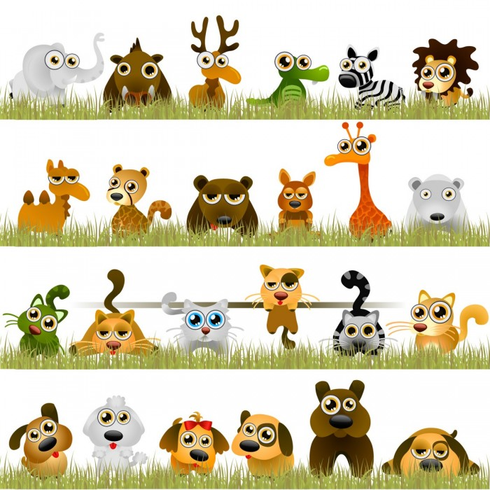 Funny little animals Vector