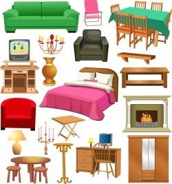Furniture set 03 Vector