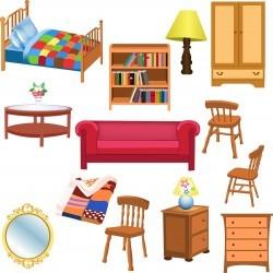 Furniture set 01 Vector
