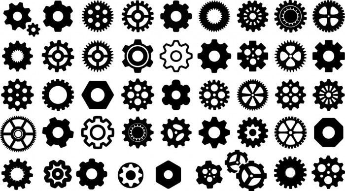 Gears silhouettes Vector
