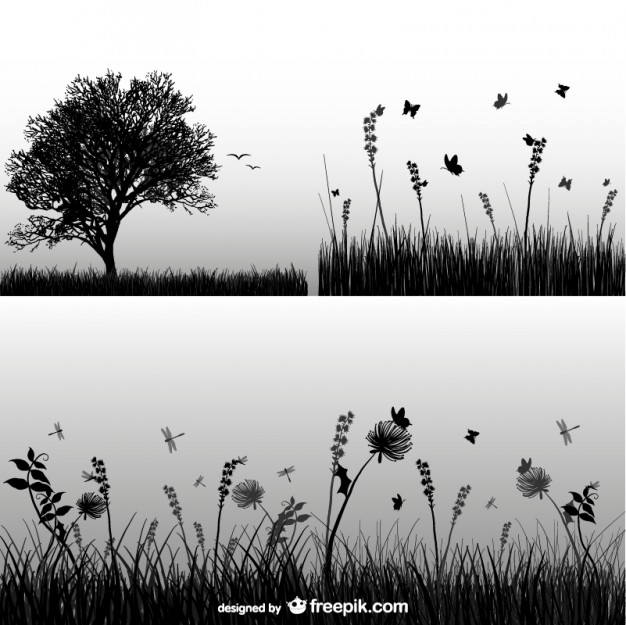 Grass silhouette  Vector | Free Download
