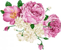Hand drawn style flower