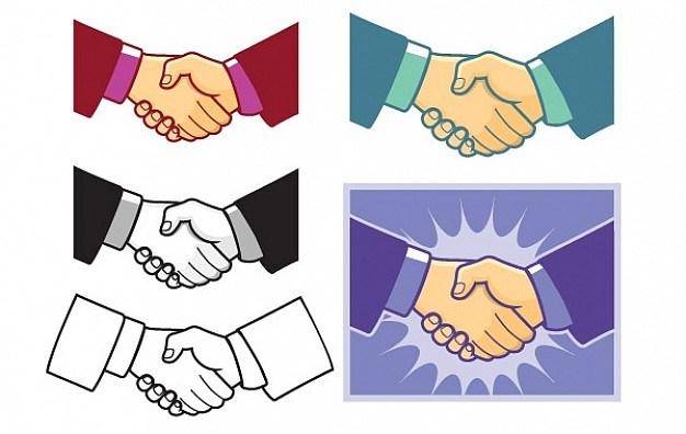 Handshake Vector  Vector | Free Download