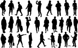Human silhouettes Vector