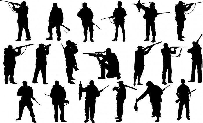 Hunter silhouettes Vector