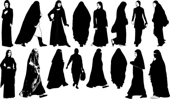 Islamic women silhouette Vector