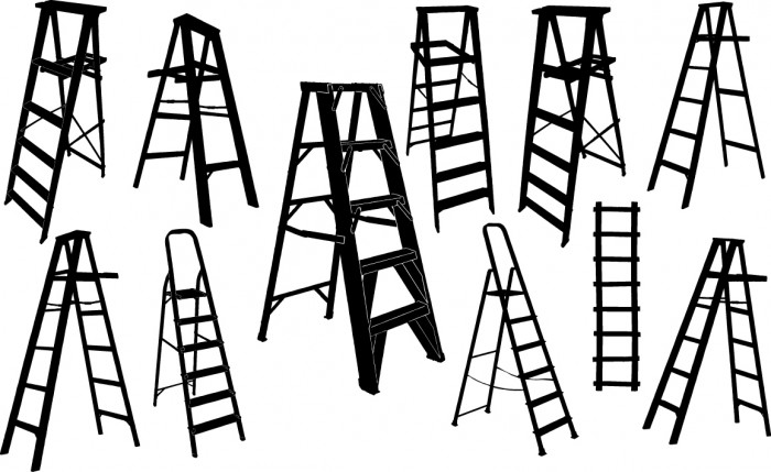 Ladder silhouette Vector