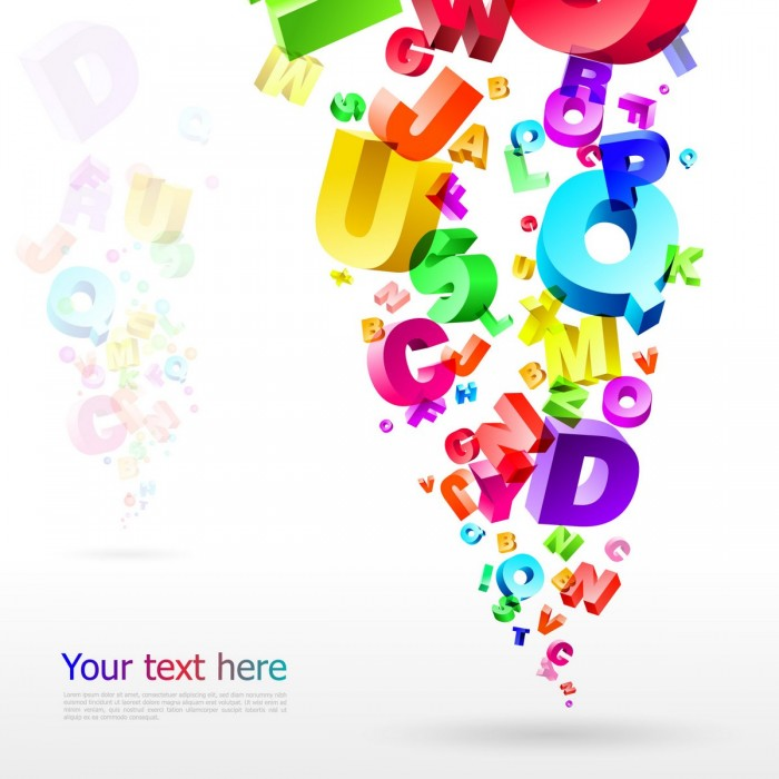 Letters Backgrounds Vector