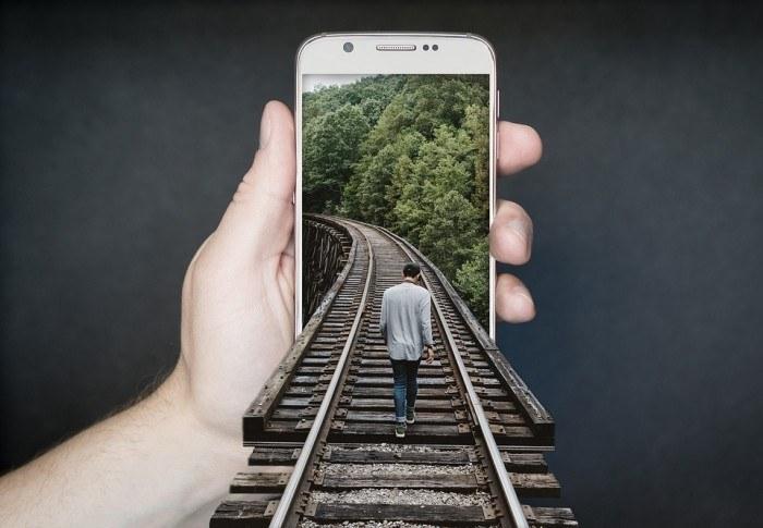 Manipulation Smartphone Gleise Run