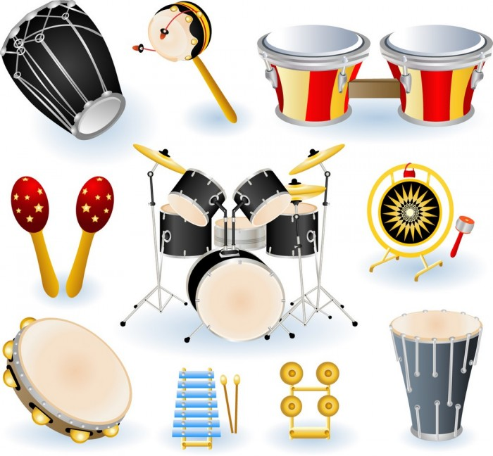 Musical Instruments – Drums Collection Vector