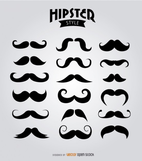 mustache collection  Vector | Free Download