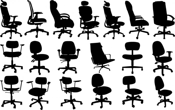 Office chair silhouettes Vector