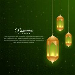 Ramadan background with lamp