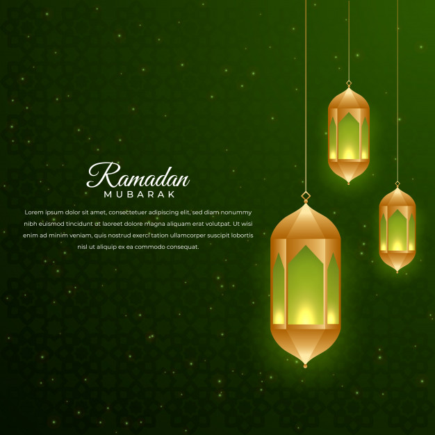 Ramadan background with lamp